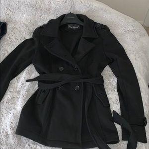 Ambiance Black Pea Coat